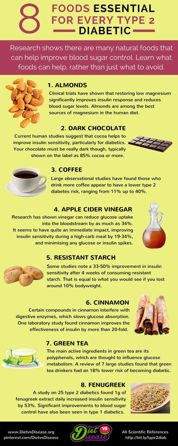 8 Foods Essential For Every Type 2 Diabetes Infographic