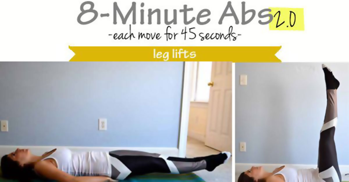 8 Minute Abs Infographic F