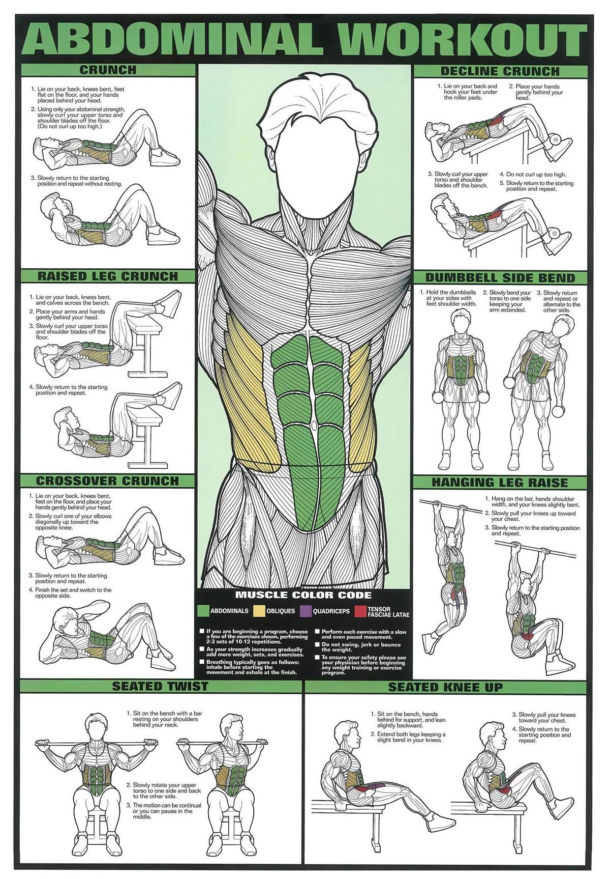 Abdominal Workout Chart