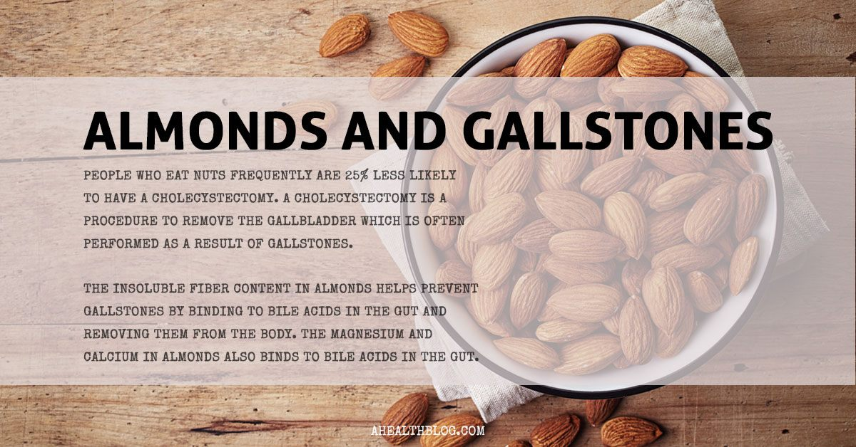 Almonds and gallstones