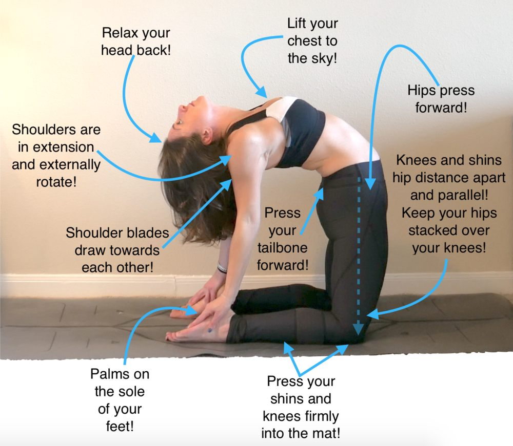 Camel Pose Benefits