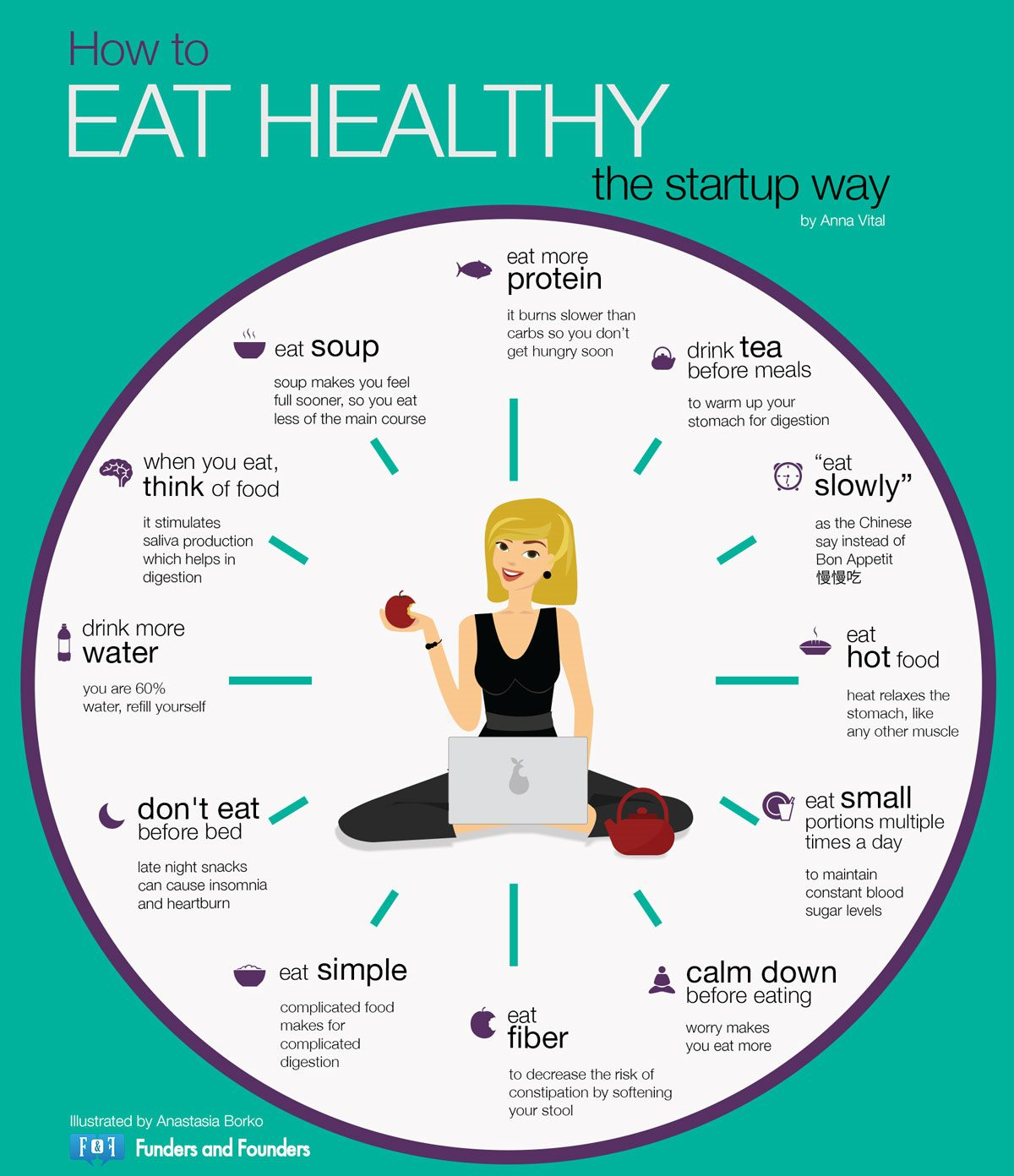 Eat healthy to help stay calm