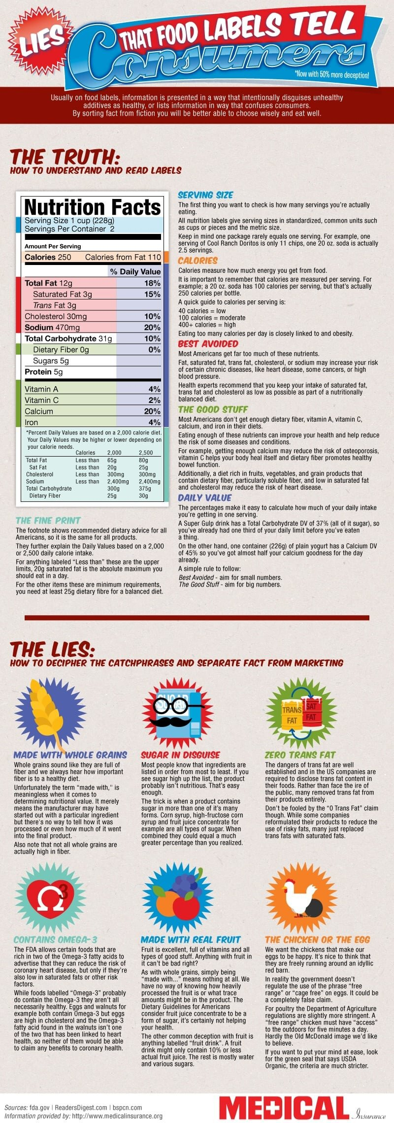 Food Labels Infographic