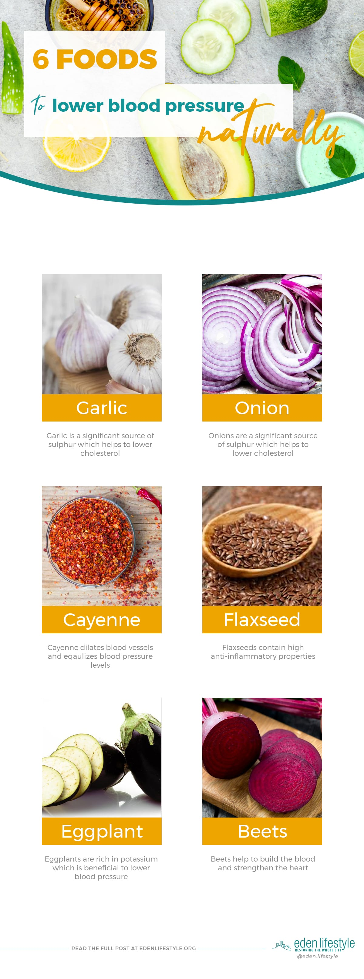 Foods To Lower High Blood Pressure Infographic