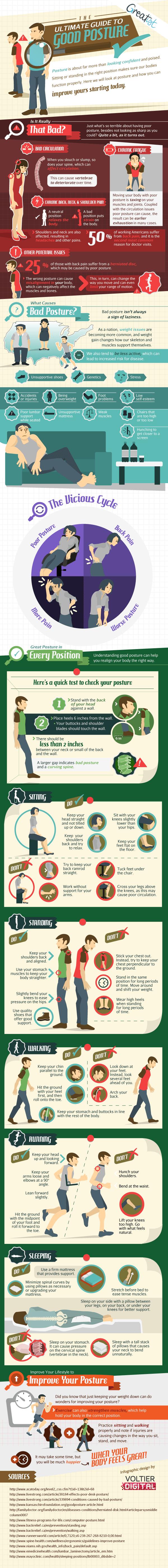 Good Posture Infographic