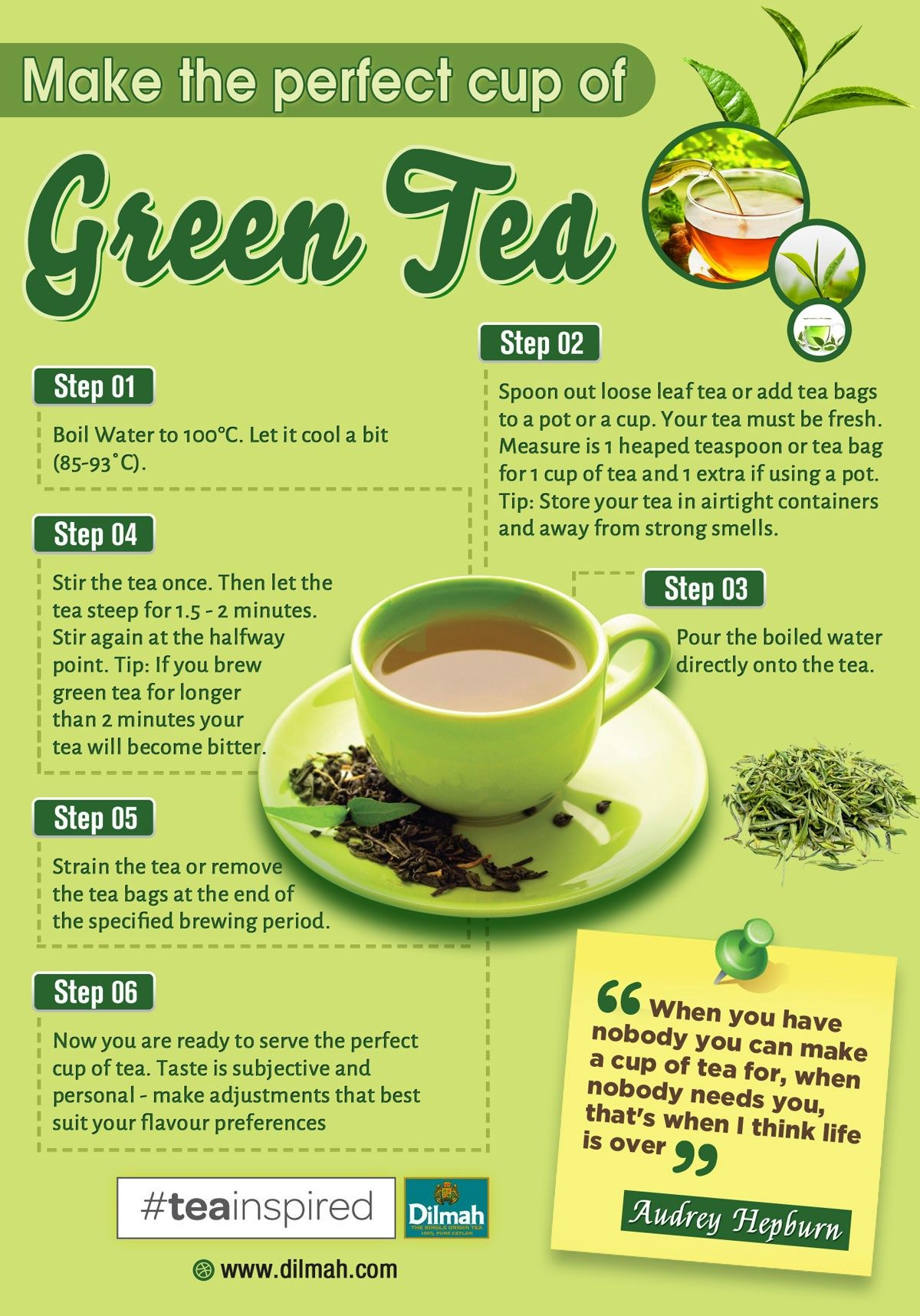Herbal or green tea is one of the best beverages to help boost physical energy