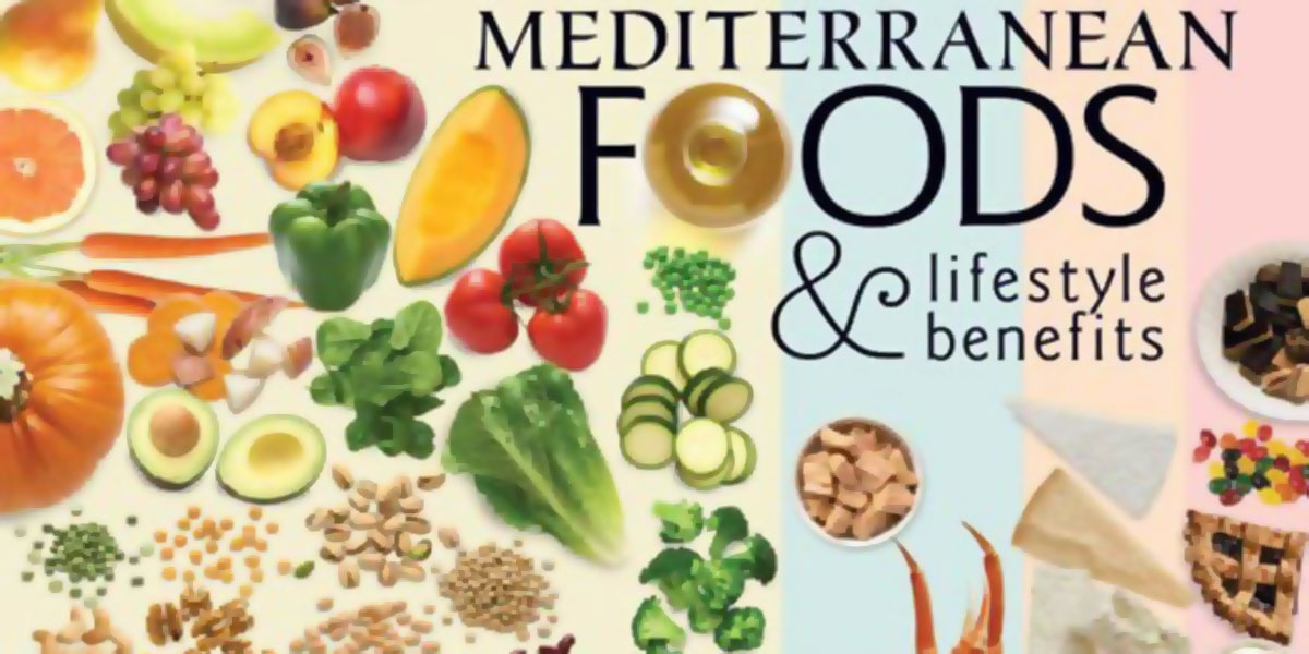 Mediterranean Foods And Lifestyle Benefits Poster F