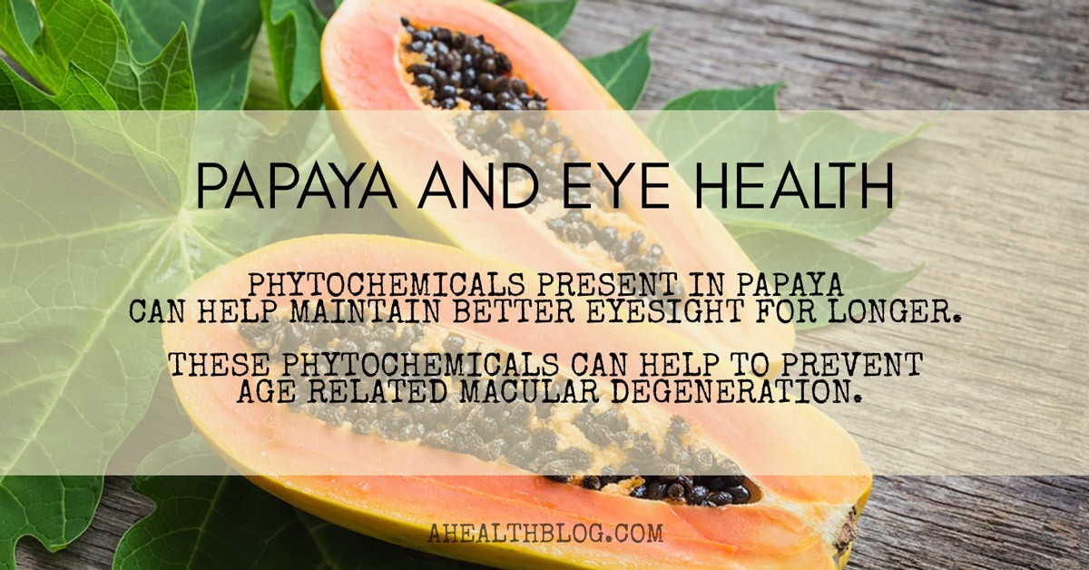 Papaya and eye health