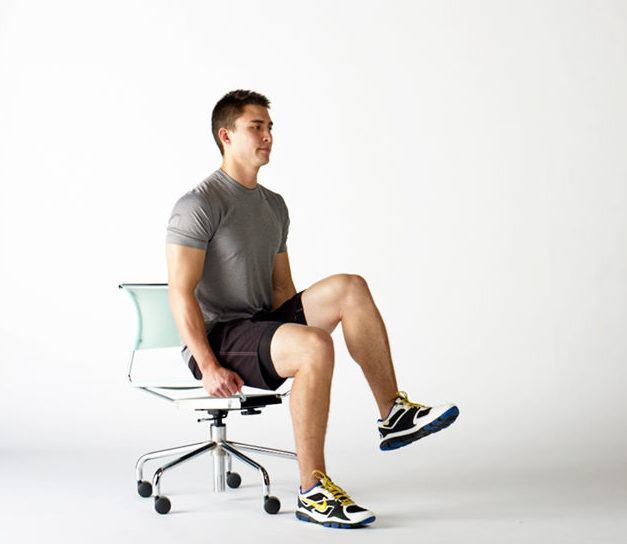Seated Bent-Leg Raises