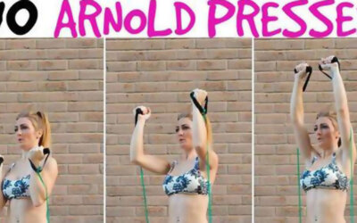 Shoulder And Thigh Resistance Band Workout F