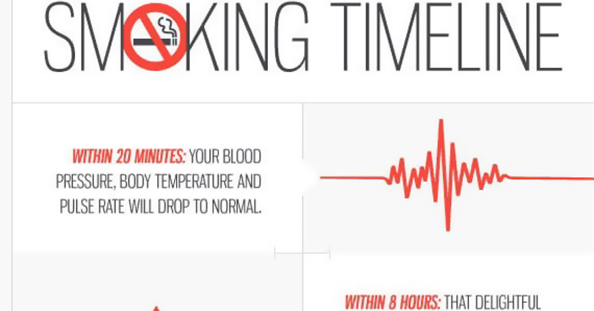 Smoking Timeline Infographic F