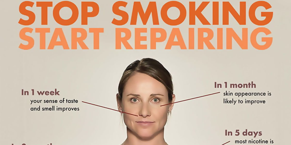 Stop Smoking Start Repairing Infographic F