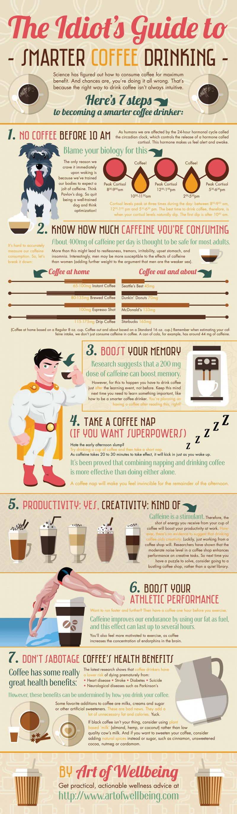 The Idiots Guide To Smarter Coffee Drinking Infographic