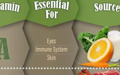 Vitamin Chart Infographic F