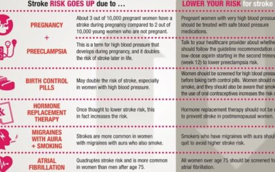 Women Have A Higher Risk Of Stroke Infographic F