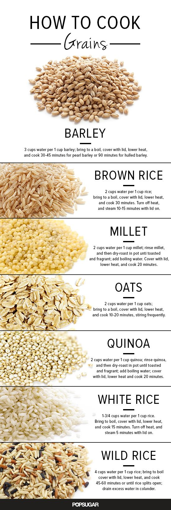 how to cook grains infographic