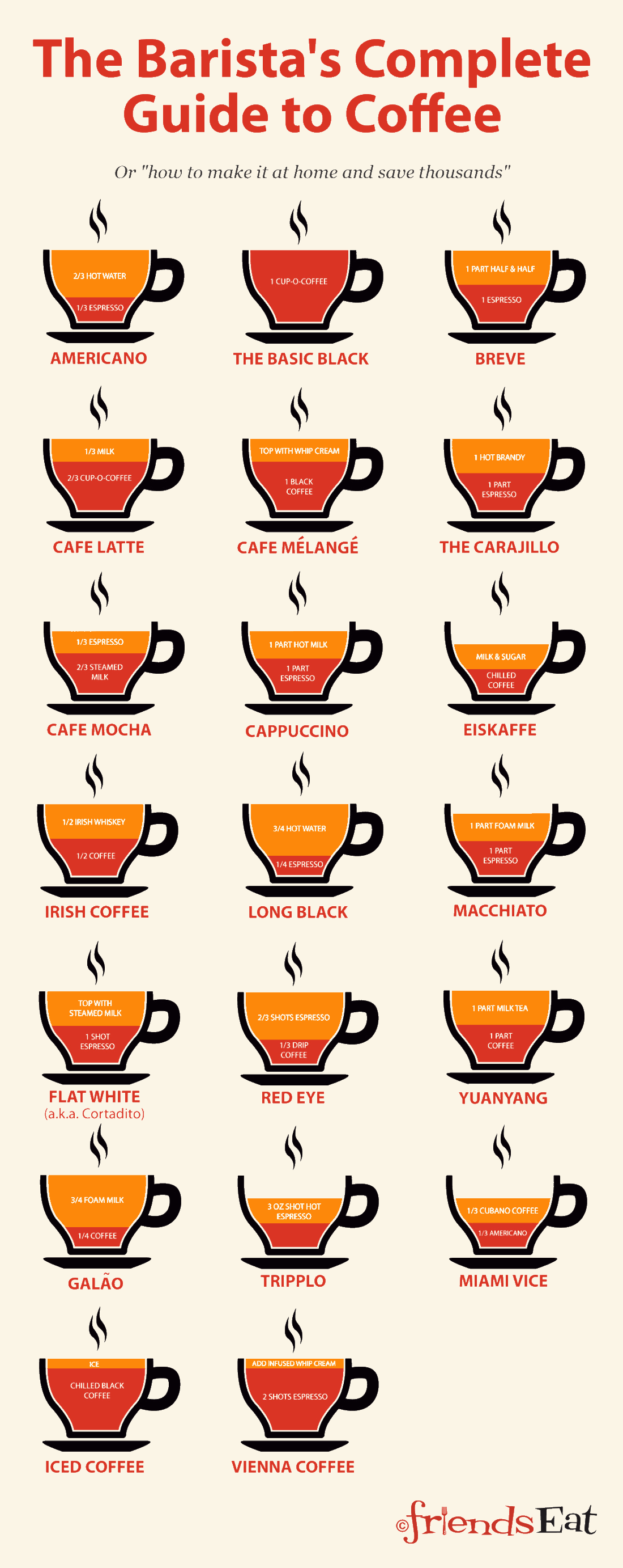 guide to coffee infographic