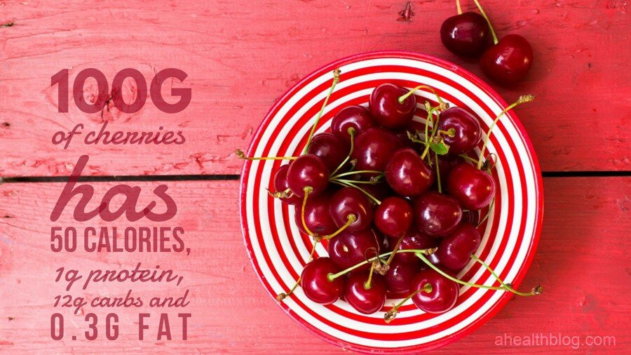 100g of cherries has 50 calories